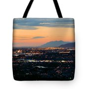 Salt Lake Nightscape Tote Bag