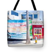 Salt Water Taffy Panorama Balboa California Tote Bag