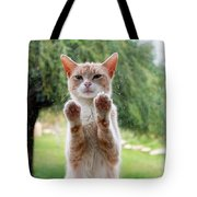 Salute Cat Tote Bag