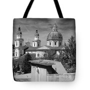Salzburg Black And White Austria Europe Tote Bag