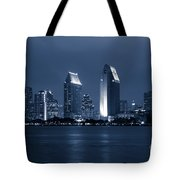 San Diego At Night Tote Bag by Paul Velgos