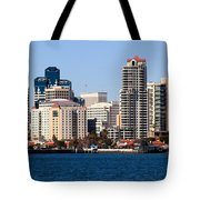 San Diego Buildings Photo Tote Bag by Paul Velgos