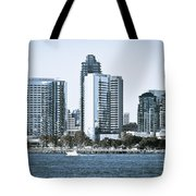 San Diego Downtown Waterfront Buildings Tote Bag