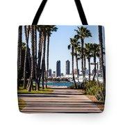 San Diego Skyline With Coronado Island Bayshore Bikeway Tote Bag