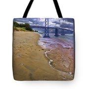 San Francisco Bay Bridge And Beach Tote Bag