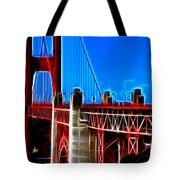 San Francisco Golden Gate Bridge Electrified Tote Bag