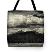 San Francisco Peaks In Black And White Tote Bag