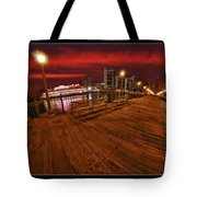 San Francisco Red Sky Pier Tote Bag