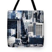 San Francisco Skyline-grunge Tote Bag
