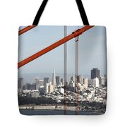 San Francisco Through The Cables Tote Bag