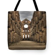 San Galgano  - A Ruin Of An Old Monastery With No Roof Tote Bag