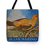 San Marino 1 Lire Stamp Tote Bag