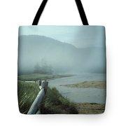 Sand Beach Fog Tote Bag