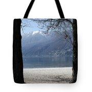 Sand Beach On An Alpine Lake Tote Bag