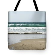 Sand City Rolling Waves Tote Bag