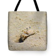 Sand Crab Digging His Hole Tote Bag