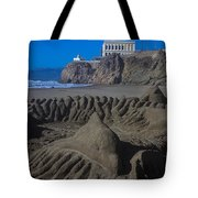 Sand Dolphin Tote Bag