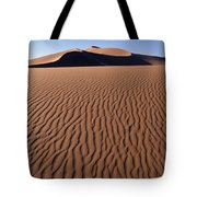 Sand Dunes Against Clear Sky Tote Bag