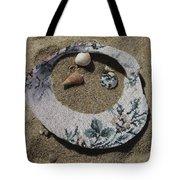 Sand On A Half Shell Tote Bag