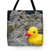 Sand Pile And Ducky Tote Bag