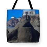 Sand Shark At Cliff House Tote Bag