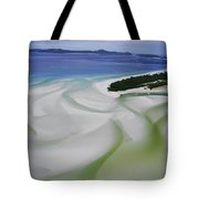 Sandbars Create An Interesting Pattern Tote Bag