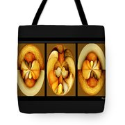 Sanded Woods Triptych Dark Tote Bag