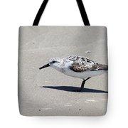Sanderling On The Beach Tote Bag