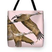 Sandhill Crane Family II Tote Bag
