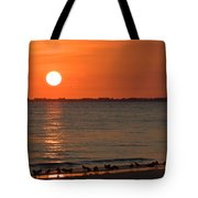 Sandpipers At Sundown Tote Bag