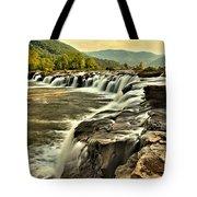 Sandstone Falls At Dusk Tote Bag