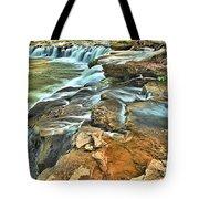 Sandstone Falls In The New River Tote Bag