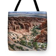Sandstone Fins Of Arches National Park Tote Bag