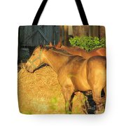 Sandy Eating Hay Tote Bag
