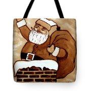 Santa Claus Gifts Original Coffee Painting Tote Bag