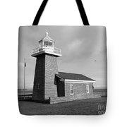 Santa Cruz Lighthouse - Black And White Tote Bag