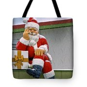 Santa Is Waiting For You Tote Bag