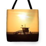 Santa Monica California Sunset Photo Tote Bag by Paul Velgos