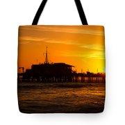 Santa Monica Pier Sunset Tote Bag
