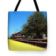 Santa Paula Train Station Tote Bag