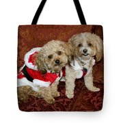 Santa Puppies Tote Bag
