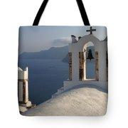 Santorini Churches Tote Bag