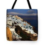 Santorini Cliff View Tote Bag