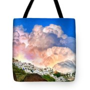 Santorini Sunrise Tote Bag