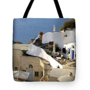 Santorini Terrace Tote Bag