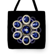 Sapphire And Gold Brooch Tote Bag