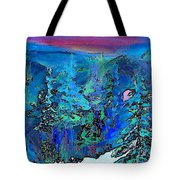 Sapphire Evening Tote Bag