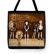 Sarah's Monster High Collection Sepia Tote Bag