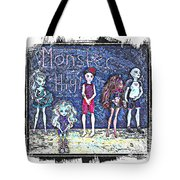 Sarah's Monster High Collection Sketch Tote Bag
