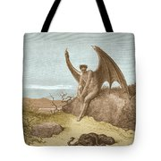 Satan Finding Serpent, By Dore Tote Bag